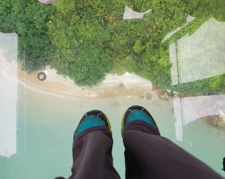 Glass floor view!